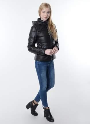 Кожаная куртка женская Каляев 80208К коричневая 44 RU