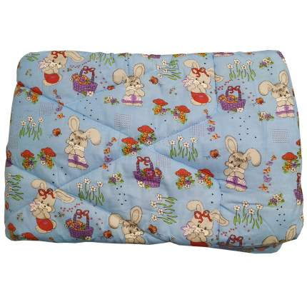 Одеяло стеганое Папитто файбертек 110*140 Голубой 008 в ассортименте