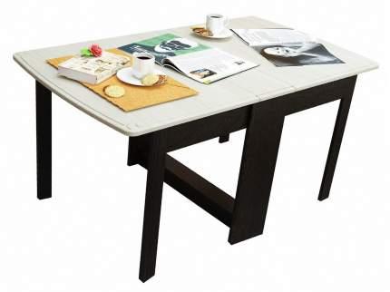 Большой деревянный стол-книжка складной МО РОСТ Сибирь-Б Венге Магия / Выбеленный дуб