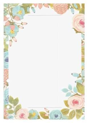"""Сменный блок """"Retro flowers"""", 50 листов, нелинованный, 14 х 20 см"""