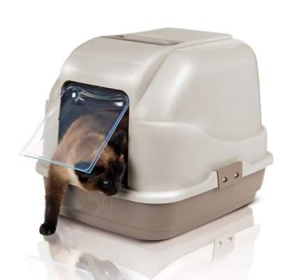 Туалет для кошек IMAC My Cat, прямоугольный, бежевый, серый, 50х40х40 см