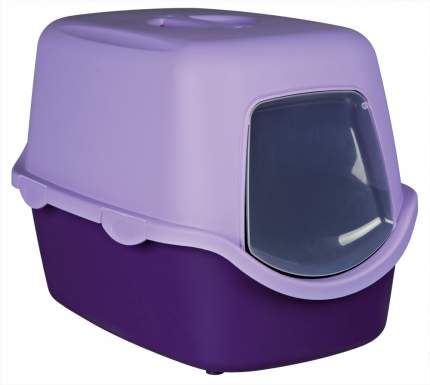 Туалет для кошек TRIXIE Vico, прямоугольный, фиолетовый, 56х40х40 см