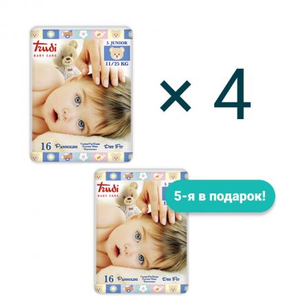 Подгузники детские Trudi Junior 11-25 кг 4+1