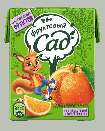 Нектар Фруктовый Сад Апельсин 200мл