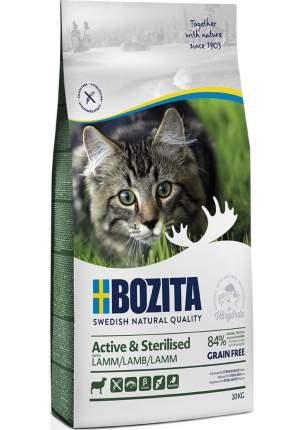 Сухой корм Bozita Active & Sterilized Grain free Lamb для активных кошек 10 кг, Ягненок