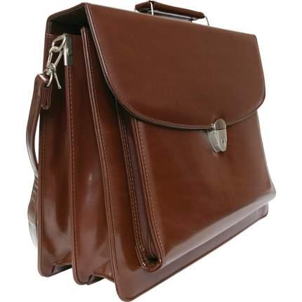 Портфель мужской INDEX IBC421 коричневый
