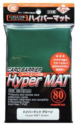 Протекторы KMC Hareruya гиперматовые, зелёные, 80 штук