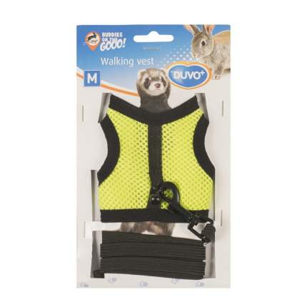 Шлейка для крыс, морских свинок и хорьков Duvo+ Walking Vest, желтая, M