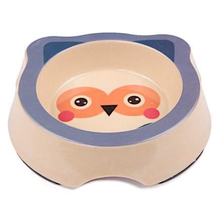 Миска для домашних животных Bobo, из бамбука, синяя, 260 мл