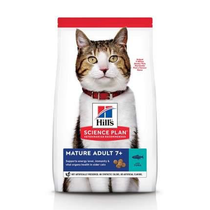 Сухой корм для кошек Hill's Science Plan Mature Adult 7+, для пожилых, тунец, 1,5кг