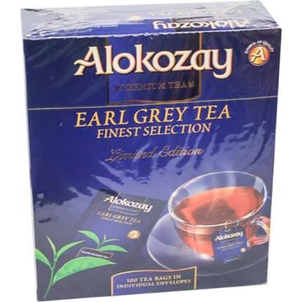 Чай черный Alokozay байховый с ароматом и вкусом бергамота 100 пакетиков