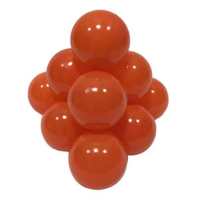 Шарики в наборе для игрового бассейна 50 шт, диам 7см, оранжевые