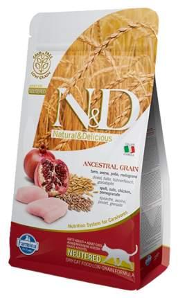 Сухой корм для кошек Farmina N&D Neutered, низкозерновой, для стерилизованных, курица,10кг