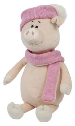 Мягкая игрушка Maxitoys Свинка Глаша в Шапке и Шарфе, 22 см
