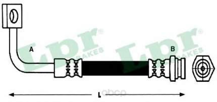 Шланг тормозной Lpr 6T48229