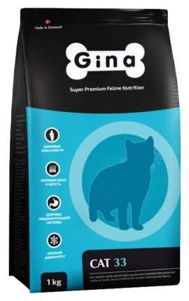 Сухой корм для кошек GINA DENMARK CAT-33, для активных и выставочных, курица, ягненок, 1кг