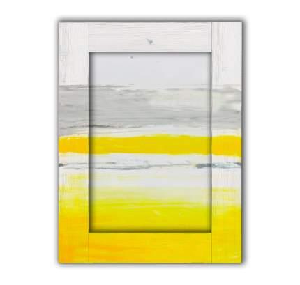Картина с Арт рамой Белый, серый и желтый 80 х 100 см
