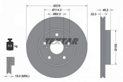 Тормозной диск Textar 92163803