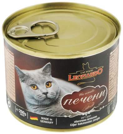 Консервы для кошек Leonardo Quality Selection, печень, 12шт, 200г