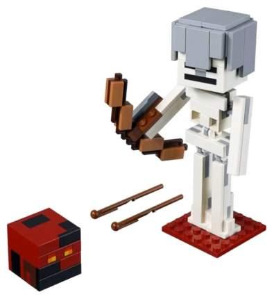 Конструктор LEGO Minecraft 21150 Большие фигурки скелет с кубом магмы