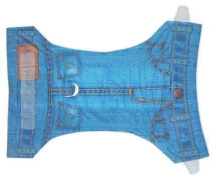 Подгузники для собак Pet Soft одноразовые впитывающие Jean Diapers в виде джинсов 8 штук S