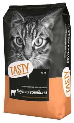 Сухой корм для кошек TASTY, говядина, 10кг