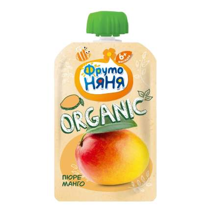 Пюре ФрутоНяня Organic манго натуральное 90 г