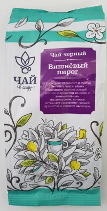 Чай черный Чай в Саду цейлонский премиальный вишневый пирог 70 г