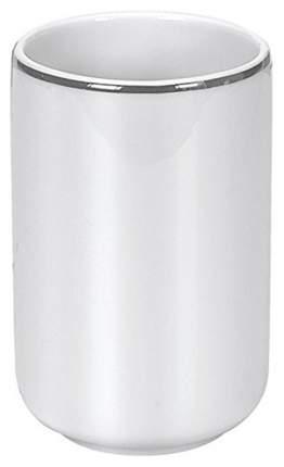 Стакан для зубных щеток Noblesse White silver фарфор Д 74хВ 114 см Белый
