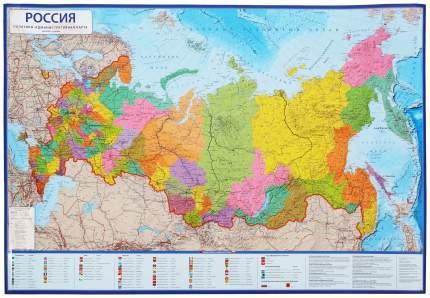 Политико-административная карта Globen Россия 1:8500000 101x70 см