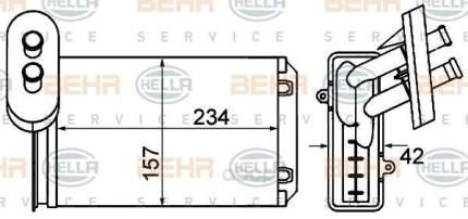 Радиатор отопителя HELLA 8FH351001611