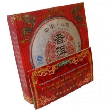 Чай черный прессованный Конфуций pu-er долголетие 100 г