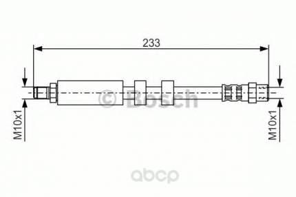 Шланг тормозной системы Bosch 1987476418 задний