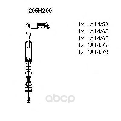 Комплект высоковольтных проводов BREMI 205H200