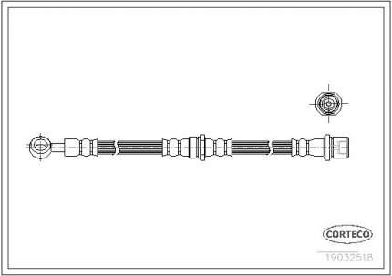 Шланг тормозной системы CORTECO 19032518