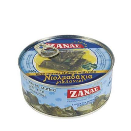 Долма Zanae виноградные листья фаршированные рисом 280 г