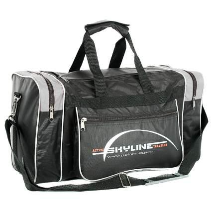 Спортивная сумка Polar Джонсон Нейлон 6009с черная/белая