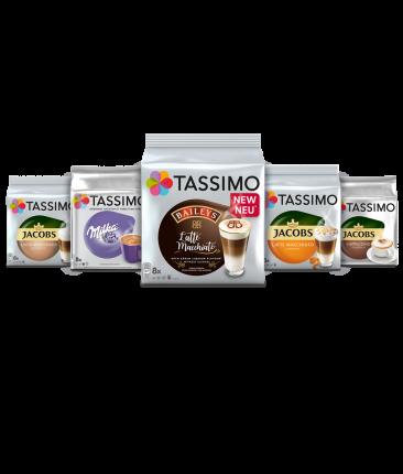 Набор «Кофе с молоком» кофе в капсулах Tassimo 5 упаковок