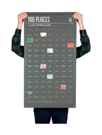 Постер Doiy 100 мест, которые нужно посетить прежде чем умереть