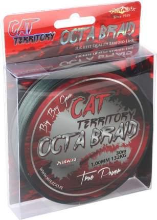Леска плетеная Mikado Cat Territory Octa 1 мм, 30 м, 132 кг