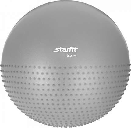 Мяч гимнастический полумассажный GB-201 65 см, антивзрыв, серый