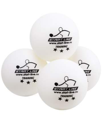 Мячи для настольного тенниса Start Line 3* Training белые, 6 шт.