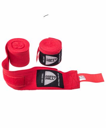 Бинт боксерский Green Hill BP-6232a, 2,5м, эластик, красный