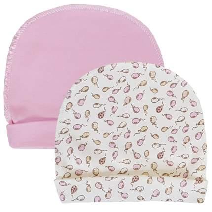 Комплект шапок 2 шт. Папитто розовый р.44 37-032