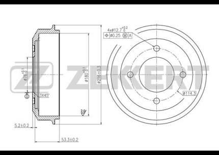 Тормозной барабан ZEKKERT BS-5421
