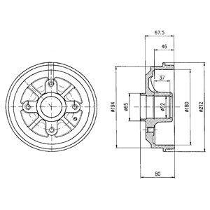 Тормозной барабан DELPHI BF324
