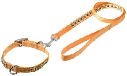 Ошейник и поводок для собак PetLine нейлон со стразами 15 х 120 см