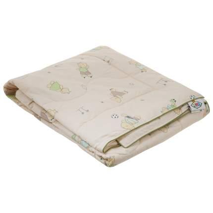 Одеяло Belashoff легкое 110x140 хлопок 100% компаньоны бежевый зеленый с рисунками