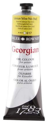 Масляная краска Daler Rowney Georgian кадмий желтый светлый 75 мл