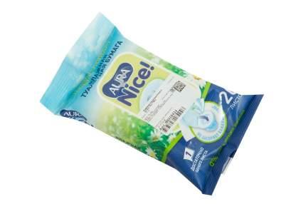 Туалетная бумага Aura влажная 20 шт.